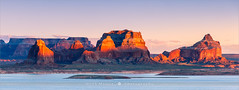 Padre Bay - Lake Powell - USA (~ Floydian ~ ) Tags: sunset arizona panorama usa nature canon landscape photography evening utah stitch dusk pano panoramic stitching lakepowell wideview padrebay floydian canoneos1dsmarkiii henkmeijer cookiejarbutte