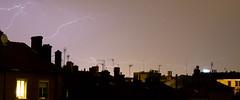 De l'orage dans l'air (Maxime Bonzi) Tags: éclairs night lyon toits rhône dark nuit alpes orage