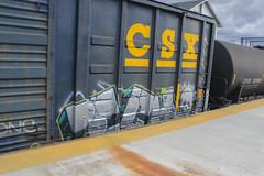 Ich (NJphotograffer) Tags: railroad art car train bench circle t graffiti track box rail yme crew boxcar graff ich freight ichabod trackside circlet benching
