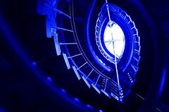 Delusion (gori-jp) Tags: blue spiral structure lookingup lookup staircase