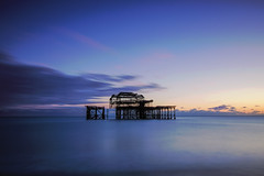 Brighton West Pier (KVH-P) Tags: uk sunset sea beach water clouds sussex pier lowlight nikon brighton waves seascapes slowshutter eastsussex brightonpier sigma1020mm 2016 travelphotography gitzotripod brightonwestpier leefilters uklandscape sussexlandscape beacheslandscapes d7000 cloudsstormssunsetsandsunrises nikond7000 sussexseascape