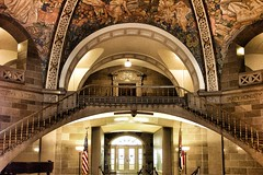 Jefferson City ~ State Capitol of Missouri ~ Historic Building (Onasill ~ Bill Badzo) Tags: city travel house building architecture walking focus gallery tour state interior murals mo explore capitol missouri dome historical jefferson register rotunda senate attraction representative entrances nrhp onasill