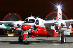 Grumman S-2 Tracker 'Firecat' - RAF Northolt Nightshoot (SHGP) Tags: night french fire photography force aircraft aviation air royal nightshoot bomber tracker raf s2 grumman firecat gruman northolt