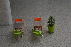 Projet 366 (2016)_077/366 (busemelissaaltan) Tags: orange green table chairs decoration talk galerie eat harmony ravenstein bozar seenfromabove