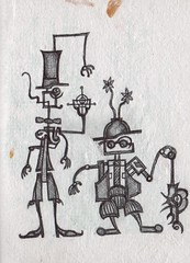 Pen Pals (darksaga66) Tags: art penandink inkart bookofink
