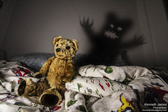 Teddy Bear Shadow (KennethJamesUK) Tags: lighting wood uk light shadow portrait dog colour home monster night portraits canon lens photography james photo bed bedroom mare shadows room fear 9 inner led nighttime photograph single demon theme week imagination bedtime nightmare dogwood creature tamron kenneth challenge dlsr week9 lightball singlelight innerdemon 60d 1024mm onelightphotography kennethjames singlelightphotography kennethjamesuk dogwoodphotography dogwoodchallenge