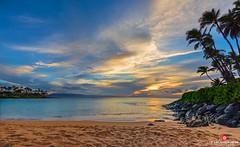 Ka Wai Lana Malie (Thncher Photography) Tags: sunset sky beach nature clouds landscape outdoors island hawaii sand waves sony scenic maui palmtrees pacificocean tropical kapalua fullframe fx lahaina waterscape kaanapali napili napilibay a7r sonya7r ilce7r zeissfe1635mmf4zaoss