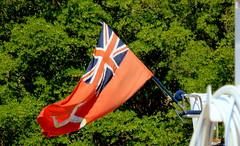 A Manx triskelion (oobwoodman) Tags: sea mer boot boat meer flag redensign caribbean bateau fahne stlucia flagge isleofman manx drapeau triskelion carabes westindies karibik saintlucia nytreecassyn