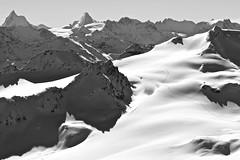 Matterhorn ( Cervin ), Dent d'hrens, Rosablanche & Grand Desert . (clicheforu) Tags: winter mountain snow alps nature alpes switzerland blackwhite view suisse outdoor matterhorn wallis valais lansdscape montfort cervin cervino granddesert hautenendaz rosablanche dentdherens clicheforu