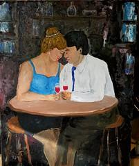 Appuntamento (sajgio) Tags: bar donna colore arte ombra uomo copia cavan incontri corpo vino tette olio gambe brindisi amanti seno pittura innamorati armonia soffuso complicit oliosutela