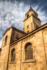 Tocar el Cielo (Touch the Sky) (Dibus y Deabus) Tags: sky espaa church architecture clouds canon spain arquitectura gijn iglesia asturias cielo nubes 7d gijon hdr iglesiadesanpedro
