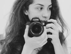 (thalita_fernanda) Tags: portrait white selfportrait black girl branco self hair mirror nikon autoretrato preto e selfie