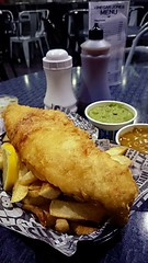 Fish and chips at Vinegar Jones in Bowness-on-Windermere (flailing DORIS aka Fur Will Fly) Tags: food fish dinner yummy yum lakedistrict tasty chips delicious foodporn cumbria meal british windermere fishandchips lakedistrictnationalpark bownessonwindermere vinegarjones