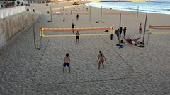 #Volleyball #Barcelona #Barceloneta (Mek Vox) Tags: barcelona barceloneta volleyball uploaded:by=flickstagram instagram:venuename=labarceloneta2cbarcelona instagram:venue=213038241 instagram:photo=11240994330066223907981272