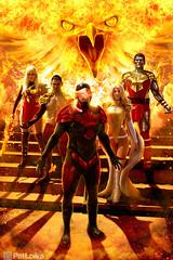 The Phoenix Five (PatLoika) Tags: phoenix cosplay cyclops xmen avengers colossus magik namor emmafrost cosplayphotoshoot xmencosplay avengersvsxmen