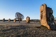 Stone Brothers (Ken_Jones) Tags: morning blue england sky cold standing sunrise ancient frost unitedkingdom stones gb druid