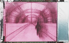 It was all a blur (H o l l y.) Tags: pink shadow film collage pencil vintage silver person mixed lomography media fuji drawing retro frame indie inverted existential instaxpink