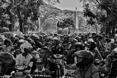 Convoy Arema football club (wild__n) Tags: road street bw flickr cityhall convoy eastjava canonind canonphotography