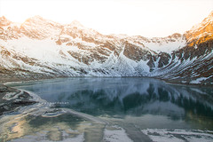 Gran Paradiso. (arturii!) Tags: trip travel winter light sunset italy mountain lake alps cold reflection ice nature water beauty wow landscape torino outdoors golden nationalpark amazing nice interesting holidays europe italia tour superb hiking magic awesome great reservoir route journey stunning viatge moment turin vacations impressive gettyimages alpines granparadiso arturii arturdebattk canonoes6d
