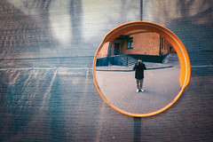 in the bubble (Art Smet) Tags: street grid moscow fujifilm mirrow autoportret selfi x100t