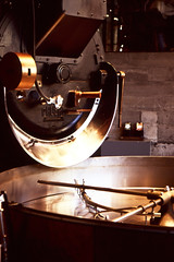 Coffee Roaster (Carlos Cruz Trabanino) Tags: seattle color film coffee nikon fuji machine slide velvia starbucks transparency wa f80 process fujichrome e6 rvp100f roasting 100f reversal destinations carloscruzphotography 2485mmf3545afsvr