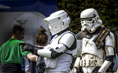 He went that way ..................., Star Wars Stormtroopers Forest Activity Show Day (Christopher Smith1) Tags: show uk house holiday rural forest day break arms time films dean disney gloucestershire lucas leisure fi recreation activity past speech productions sci coleford puzzlewood