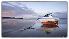 L1001849 (robert.french57) Tags: leica sunset red sea sky white seascape robert water reflections lens french landscape boats one bay boat lowlight bob m f16 southend shoeburyness 57 240 d14 18mm thrope rjf