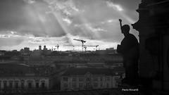 Der Himmel über Berlin (RoyBatty83) Tags: sky blackandwhite bw berlin silhouette clouds germany landscape deutschland blackwhite view pentax top dom tourist german dome 169 sunbeam biancoenero cloudysky viewfromthetop k5 blacksky travelphoto tappo germanculture kitlenses pentaxkitlenses germanlifestyle pentaxiani pentaxda1855wr pentaxk5 pentaxda1855alwr berlinmonuments pentaxdal1855wr
