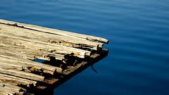 I'm falling apart... But I'm still here, admiring your beauty! (Argyro...) Tags: wood sea decay fallingapart