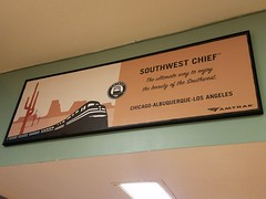 March 30, 2016 (Christine was here) Tags: cactus train poster colorado amtrak trainstation southwestchief superliner lajunta