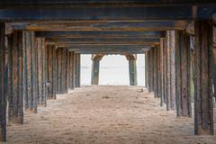 Weathered Pier (angieburns17) Tags: wood sea beach water coast pier sand lancashire lytham