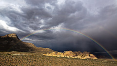 02469064-75-Rainbow in Red Rock Canyon-1-HDR (Jim would like to get on Explore this year) Tags: usa southwest nature america landscape rainbow nevada places hdr mojavedesert redcanyon nearlasvegas canon5dmarkiii tamronsp1530mmf28divcusd