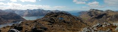 On the ridge of Druim Fada looking west towards the Isle of Skye (Mumbles Head) Tags: mountains scotland highlands grahams glenelg munros corbetts lochhourn