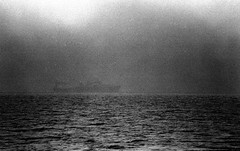Ship In Fog Penobscot Bay 8-26-1988mrf2 (ironmike9) Tags: ocean sea water fog bay coast boat seaside ship maine vessel cargo atlantic sail schooner tanker seacoast mv penobscotbay motorvessel roseway