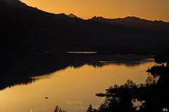 Sunset [explore Apr 1, 2016 # 49] (roland_lehnhardt) Tags: sunset nature landscape see wasser sonnenuntergang silhouettes berge landschaft abendlicht silhouetten umrisse schattenbilder naturemasterclass