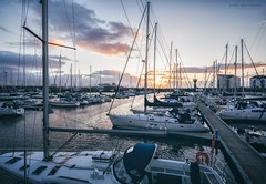 Ardrossan Harbour (itsjamesy) Tags: sunset seascape boats scotland boat nikon harbour yacht north sails scottish kodakgold ayrshire ardrossan saltcoats nikon1224mm d7100 vsco
