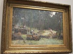 Charcoal burners, Victoria (spelio) Tags: art tour jan paintings australia tm canberra act nga 2016 tomroberts
