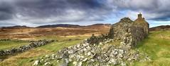 Glendrian panorama (OutdoorMonkey) Tags: house history abandoned scotland farm cottage ruin historic derelict settlement ruined ardnamurchan farmstead glendrian achnaha
