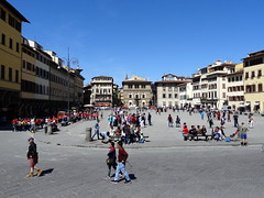 Piazza Santa Croce in Florence (chibeba) Tags: city urban italy tourism square florence spring europe tuscany april piazza 2016 shortbreak citybreak
