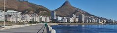 Sea Point Promenade (jayayess1190) Tags: city urban mountain beach skyline southafrica coast cityscape capetown neighborhood lionshead signalhill seapoint