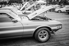 Mustang (vapi photographie) Tags: show santa old white black classic ford beach car sport vintage la pier los angeles muscle exotic pony monica mustang
