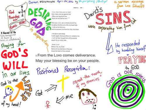 Sermon Sketchnote: Psalm 3 by Wesley Fryer, on Flickr