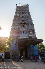 Marundeeswarar Temple Gopuram (Front View) (Vijay Ram) Tags: blackandwhite building monochrome architecture god outdoor culture lord temples shiva hindu chennai tamil deity southindia nadu gopuram thiruvanmiyur valmiki marundeeswarar chennaiweekendclickers