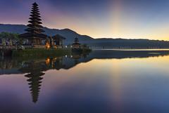 Sunrise at Uludanu Temple of Bratan (Pandu Adnyana Photography Tour) Tags: bali lake sunrise indonesia ulundanutemple balitravelphotography baliphotographytour baliphotographyguide balilandscapephotography