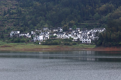The architecture of Huizhou style... (yvone042488) Tags: travel white lake black green water journey april house