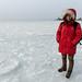 Michelle sobre o gelo no Pacífico