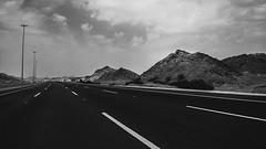 2104 (ZEDX95) Tags: blackandwhite bw mountain lines landscape blackwhite highway highcontrast freeway leading vsco