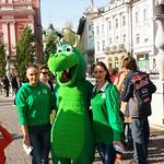 Promocija NK Olimpija Ljubljana v centru Ljubljane s hostesniki Agencija 22.