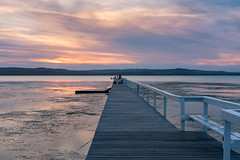 Long Jetty #3 (haoguoju) Tags: bridge autumn sunset sky sun lake water grass clouds zeiss t landscape coast chair outdoor f14 jetty sony sydney bank australia 55mm newsouthwales centralcoast a7 ze otus distagon coastwalk carlzeiss theentrance longjetty a7r otus1455 sonyilce7rm2 7rm2 ilce7rm2 sonya7rmarkii