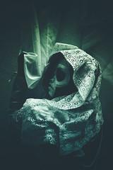 Ghuleh (Captain Nots) Tags: portrait selfportrait dark skull dress lace zombie ghost band makeup queen creepy portraiture zombiequeen thebandghost ghuleh